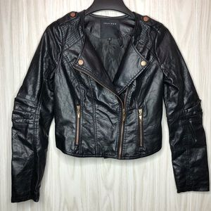 Therapy Faux Leather Moto Jacket size M